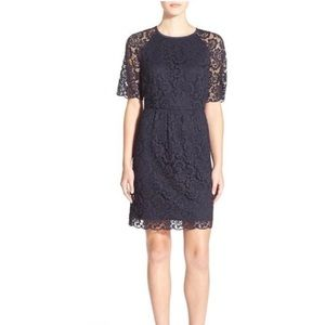 Madewell 'Magnolia' Lace Dress In Navy